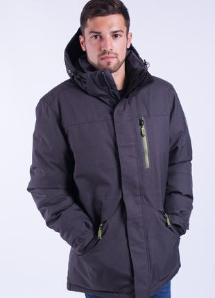 Куртка мужская зимняя Avecs AV-70186 Dark gray Размеры 52