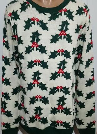 Новогодний свитер мужской . new look men
