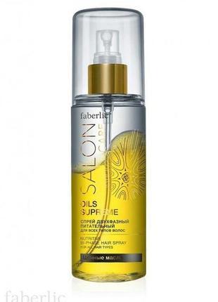 Двухфазный питательный спрей для всех типов волос серии salonc...