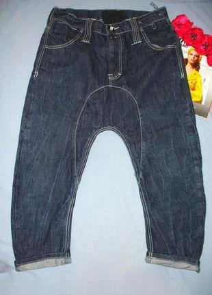 Джинсы мужские размер w 32 укороченные шорты бриджи с матней м...
