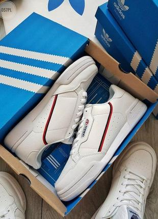Крутые кроссовки 💪 adidas continental 80/ white red 💪