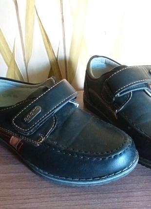 Туфли, на липучке, размер 28, стелька 17. 5 см