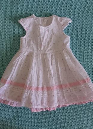 Детское летнее платье George 9-12 мес для девочки
