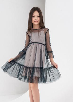 Платье сетка новое hm девочка 6-8 лет
