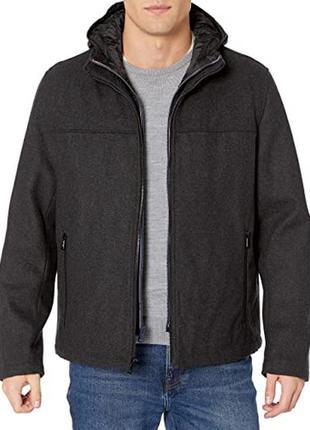 Стильная теплая шерстяная куртка с капюшоном tommy hilfiger ja...