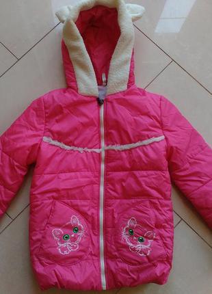 Стильная ветровка куртка на девочку демисезон весна осень 4-6 лет