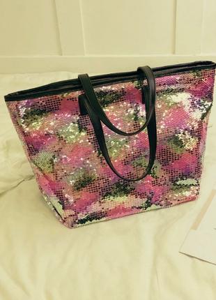 Распродажа классная летняя сумка из кожи pu с пайетками -перев...