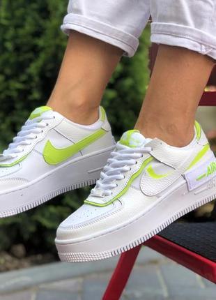 Nike air force shadow white light green