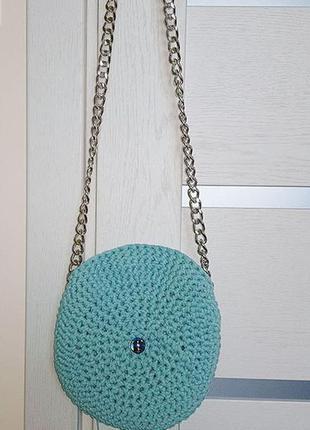 Сумка сумочка на цепочке вязаная hand made ручная работа