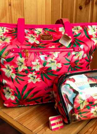 Цветастая летняя сумка виктория сикрет
