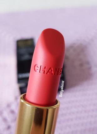 Chanel rouge allure velvet помада с матирующим эффектом