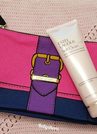 Estee lauder soft clean пенка для умывания+косметичка
