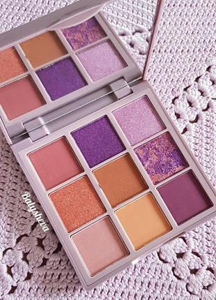 Huda beauty pastels lilac палетка теней новая