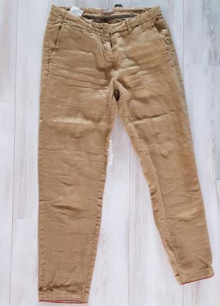 Sale napapijri льняные брюки-чинос бежевые новые