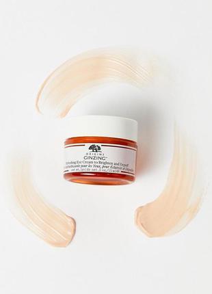 Origins ginzing refreshing eye cream to brighten and depuff кр...