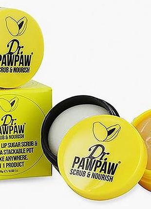 Dr.pawpaw scrub and nurish 2in1 питательный бальзам и скраб дл...