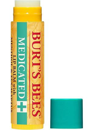 Burt's bees medicate lip balm лечебный бальзам для губ