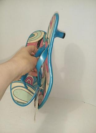Резиновые вьетнамки на каблуках по стельке 28см