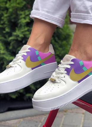 Nike air force 1 white pink violet