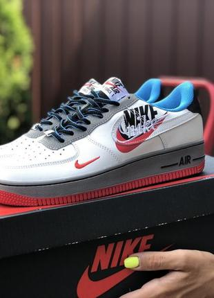 Nike air force 1 red blue