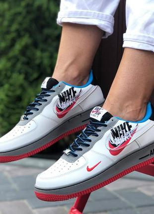 Nike air force 1 white red blue