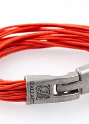 Кожаный браслет dallaiti вс39 оранжевый