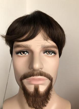 Для спектаклей. мужской натуральный короткий парик.