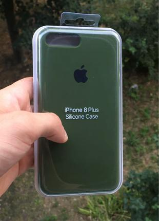 Silicone Case iPhone 7+ / 8+ Army Green