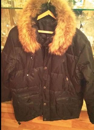 Продам пуховик  мужской зимний с мехом