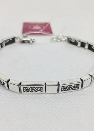 Новый красивый серебряный браслет 19,0-20,5 см серебро 925 пробы