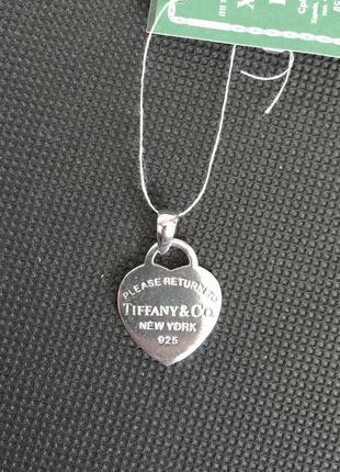 Новый родированый серебряный подвес сердце серебро 925 пробы