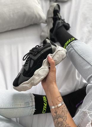 Шикарные женские кроссовки в черном цвете (36-40)💜