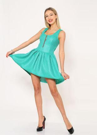 Платье-сарафан мини женское свободный крой юбки 104r061 ментол...