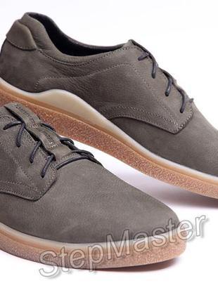 Кожаные мужские туфли tommy hilfiger olive