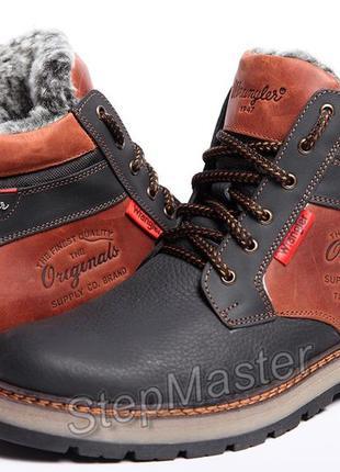 Кожаные зимние ботинки на меху wrangler arizona