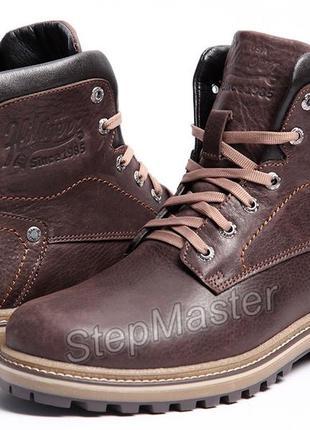 Ботинки кожаные зимние hilfiger combat boots