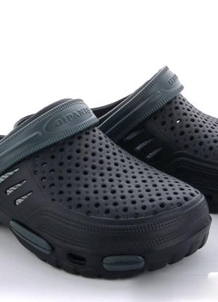 Мужские кроксы чёрные хаки отменное качество