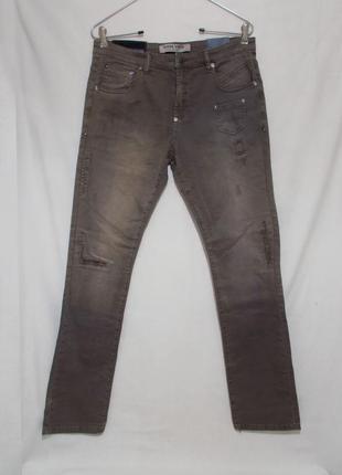 Новые джинсы слим стрейч рваные мытые хаки w31-32 l32 'buena v...