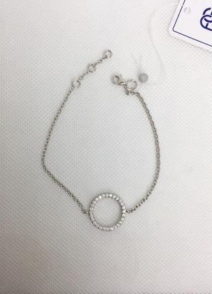 Новый родированый серебряный браслет 17,0-19,0 см серебро 925 ...