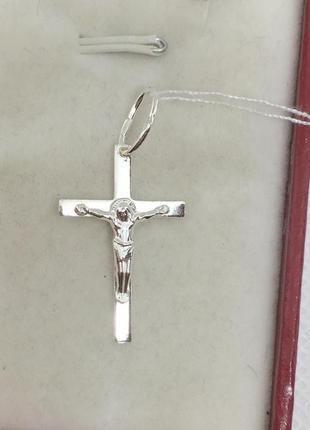 Новый серебряный крестик серебро 925 пробы