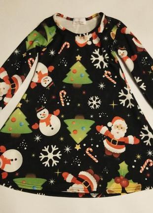 Новогоднее платье на 3-4 года