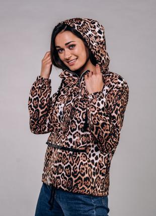 Женский анорак  леопардовый