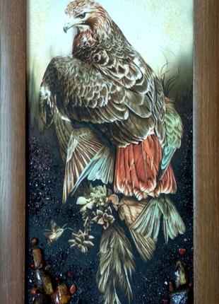 Картина из янтаря 30*60см