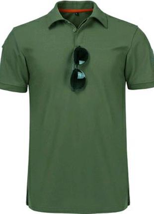 Тактическая футболка поло Outsideca с коротким рукавом (Олива)