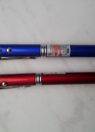 Шариковая ручка с лазерной указкой и фонариком