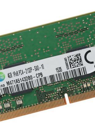 Оперативная память Samsung SO-DIMM, DDR4, 4Gb, 2133MHz,