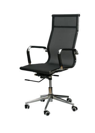 Кресло руководителя офисное Solano mesh black/blue/white