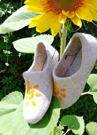 Валяние домашней обуви