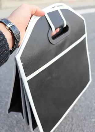 Органайзер для багажника автомобиля складной тканевый в авто ящик