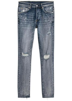 Рваные узкие джинсы h&m , skinny fit !